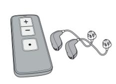 Đặt máy trợ thính ở gần điều khiển