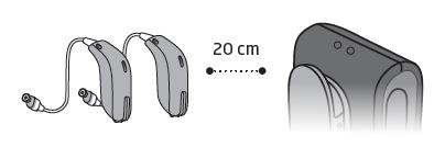 Đặt máy trợ thính gần ConnectClip