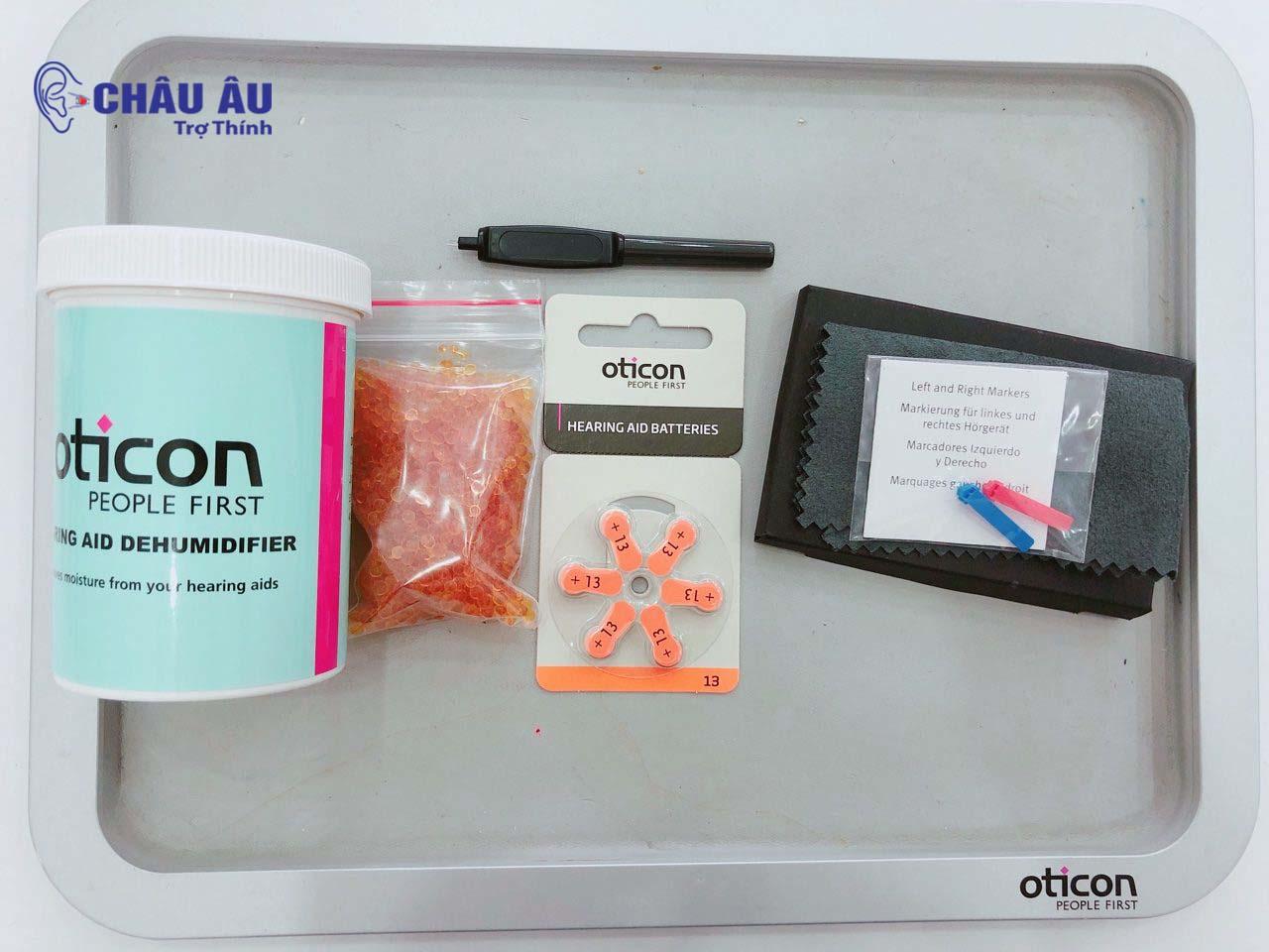 Pin và hộp hút ẩm của máy trợ thính Oticon