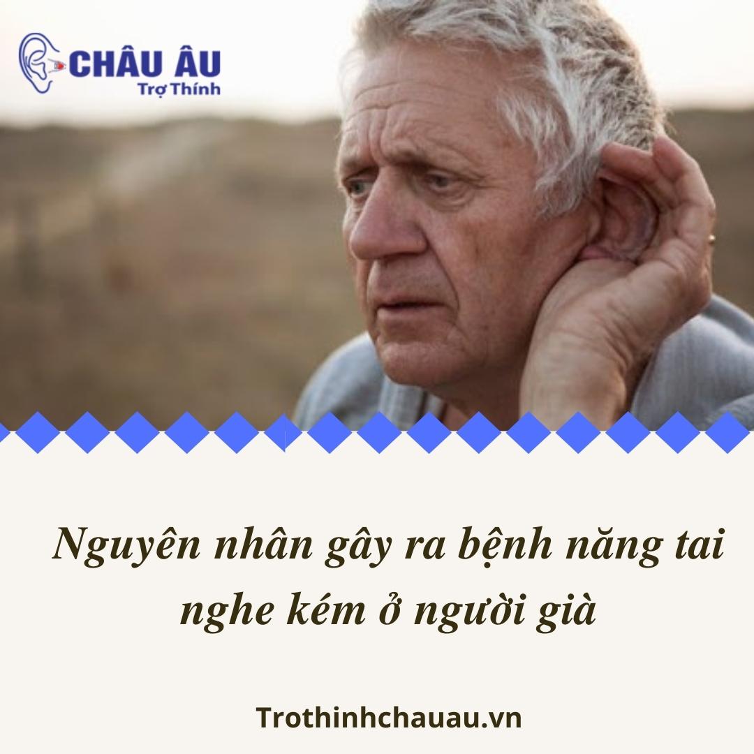 Nguyên nhân gây ra bệnh năng tai nghe kém ở người già