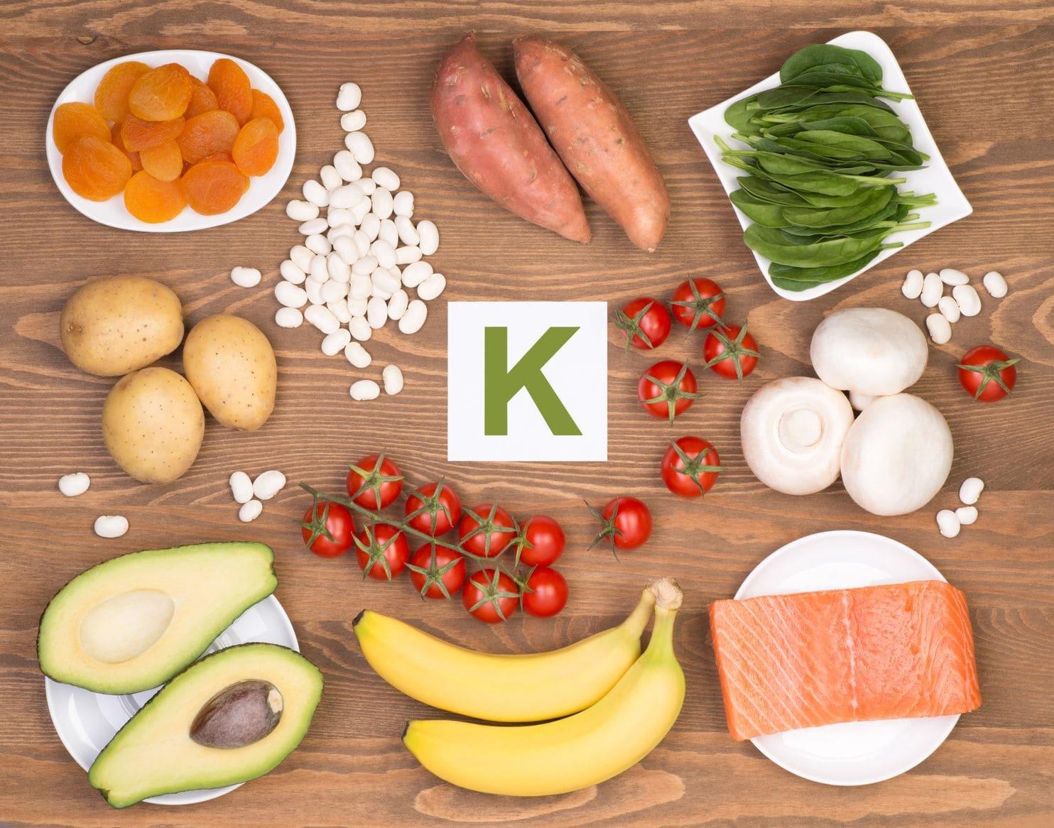 Nhóm thực phẩm chứa nhiều K