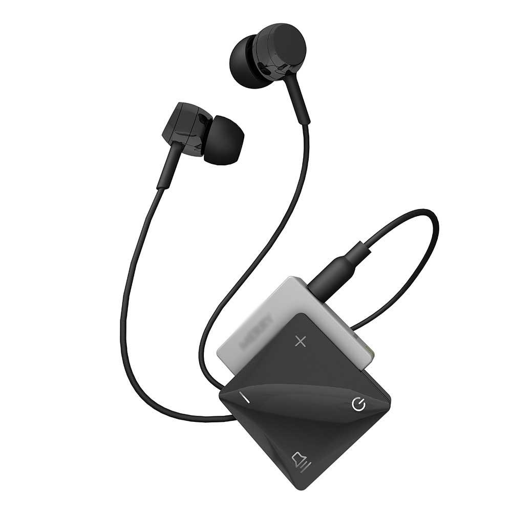 Thiết bị tăng âm có thiết kế đơn giản với nút bật tắt nguồn và điều chỉnh âm thanh
